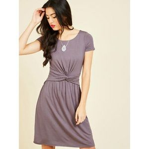 ModCloth A Whole New Whorl Purple Jersey Dress 1x